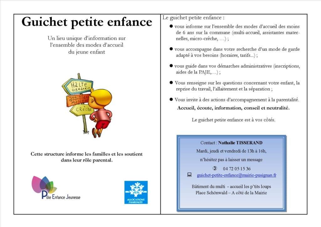 GUICHET PETITE ENFANCE-